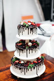 White wedding cake Royalty Free Stock Photo