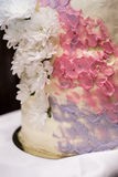 White wedding cake. Dessert, marriage event decoration, table Royalty Free Stock Photography