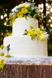 White Wedding Cake Detail Royalty Free Stock Images