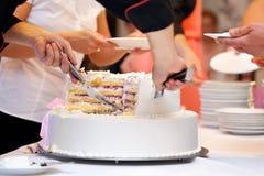 White wedding cake with strawberry Stock Images