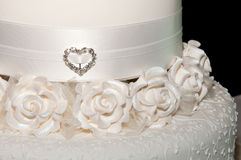 White wedding cake close up Royalty Free Stock Images