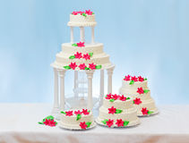 White wedding cakes Royalty Free Stock Images