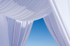 White wedding canopy Stock Image