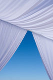 White wedding canopy canvas Royalty Free Stock Photos