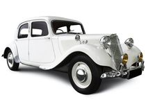 White Wedding Car Royalty Free Stock Photos