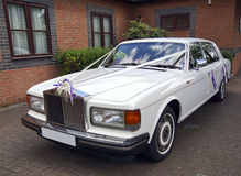 White wedding car Royalty Free Stock Images