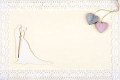 White wedding card Royalty Free Stock Image