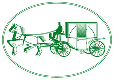 White Wedding Carriage Royalty Free Stock Image