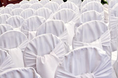 White wedding chairs Stock Photography