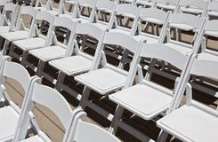 White Wedding Chairs Royalty Free Stock Image