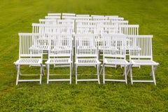 White wedding chairs Stock Image