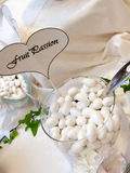 White wedding confetti Royalty Free Stock Photos