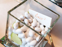 White wedding confetti Stock Photos