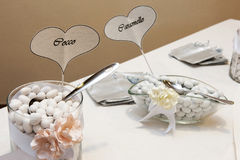 White wedding confetti Stock Image