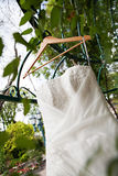 White wedding Dress Royalty Free Stock Photos