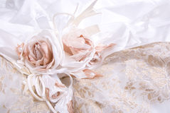White wedding dress Royalty Free Stock Images