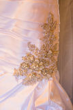 White Wedding Dress Detail. Wedding dress detail from a beautiful dress before the ceremony Stock Images