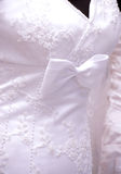 White wedding dress detail Stock Photography