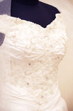 White wedding dress detail Royalty Free Stock Photos