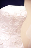 White wedding dress detail Stock Images