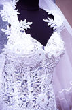 White wedding dress detail Royalty Free Stock Photo