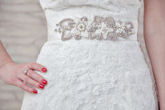 White wedding dress Stock Image