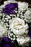 White wedding flowers and wedding stock image