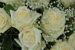 White wedding flowers Stock Image