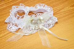 White wedding garter Royalty Free Stock Photography