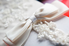 White wedding glovers Stock Images