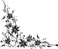White wedding invitation background with black ornaments Royalty Free Stock Images