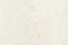 White wedding lace with floral pattern Royalty Free Stock Images