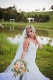 White wedding at lake