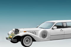 White wedding limo Stock Image