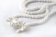 White wedding necklace Royalty Free Stock Image