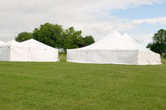 White wedding party tents Royalty Free Stock Image