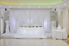 White Wedding. Picture of a Wedding  decoration Royalty Free Stock Photo