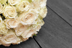 White wedding rose bunch Stock Images