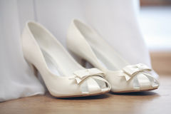 White wedding shoes Royalty Free Stock Photo