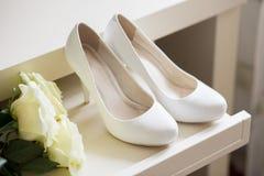White Wedding shoes Stock Image