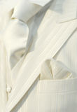 White wedding suit Royalty Free Stock Images