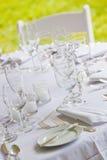 White wedding table Royalty Free Stock Photo