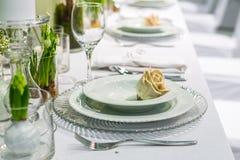 White wedding table royalty free stock photos