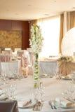 White wedding table set Stock Photography