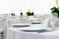 White wedding table Royalty Free Stock Photos