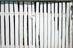White well fence planks Royalty Free Stock Image