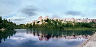 White well in Voronezh. Lake in Voronezh Grand Canyon `White whell Stock Images