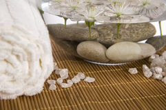 White wellness products Royalty Free Stock Photos