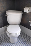 White Western Toilet royalty free stock photo