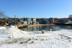 White Wharf in Rockport, Massachusetts Royalty Free Stock Photo